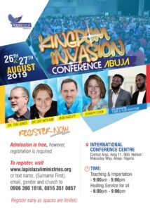 Kingdom Invasion Conference 2019, Abuja